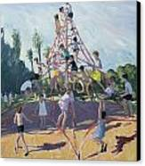 Playground Canvas Print by Andrew Macara