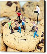 Playing Basketball On Cookies II Canvas Print