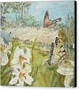Playing In The Garden Canvas Print by Dorothy Herron