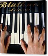 Playing The Piano. Canvas Print by Damien Lovegrove
