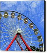 Playland Ferris Wheel Canvas Print by Maria Scarfone