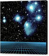 Pleiades In Taurus Canvas Print by Science Source