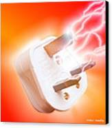 Plug With Electric Current Canvas Print