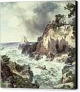 Point Lobos At Monterey In California Canvas Print by Thomas Moran