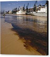 Polluted Water, Rio De La Plata Canvas Print by Bernard Wolff
