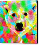 Polychromatic Polar Bear Canvas Print