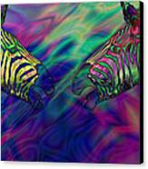 Polychromatic Zebras Canvas Print by Anthony Caruso