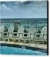 Poolside With A View Canvas Print