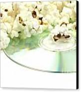 Popcorn And Movie  Canvas Print