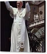Pope John Paul II Blesses An Audience Canvas Print by James L. Stanfield