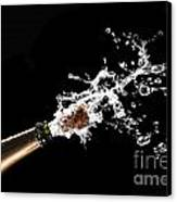 Popping Champagne Cork Canvas Print by Gualtiero Boffi