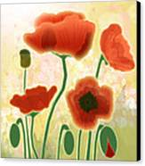 Poppy Mountain Meadow Canvas Print by Melisa Meyers