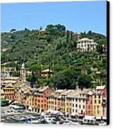 Portofino Hillside Canvas Print