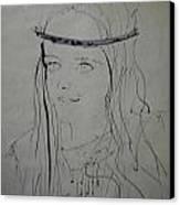 Portrait 1971 Colette Canvas Print