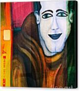Portrait Of A Man 3 Canvas Print by Emilio Lovisa