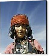 Portrait Of A Nomadic North African Canvas Print by Maynard Owen Williams