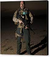 Portrait Of A U.s. Contractor Canvas Print by Terry Moore