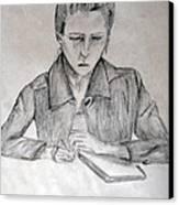Portrait Of Haley Golz Canvas Print