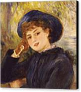 Portrait Of Mademoiselle Demarsy Canvas Print by Pierre Auguste Renoir