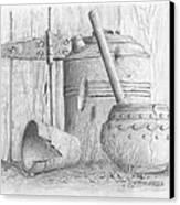 Potting Shed Canvas Print by Jim Hubbard