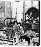 Poverty Stricken Children In A Rural Canvas Print by Everett
