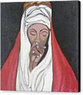 Praying Woman-oil Painting Canvas Print by Rejeena Niaz