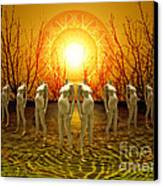 Pregnant Sun Canvas Print by Rosa Cobos