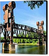 Prescott Lift Bridge Canvas Print by Kristin Elmquist