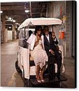 President And Michelle Obama Ride Canvas Print