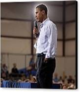 President Barack Obama At A Town Hall Canvas Print by Everett