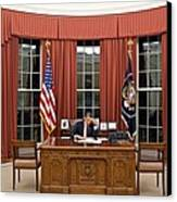 President Barack Obama Edits Canvas Print by Everett