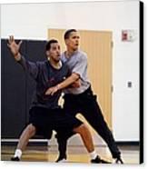 President Barack Obama Guards Canvas Print by Everett