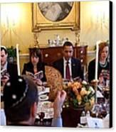 President Barack Obama Marks Canvas Print