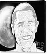 President  Barrack Obama Canvas Print by Belinda Threeths