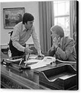 President Carter And His Chief Of Staff Canvas Print by Everett