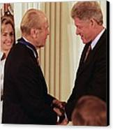 President Clinton Awards Former Canvas Print