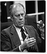 President Ford During A National Canvas Print by Everett