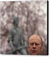 President Ford Speaks On The 200th Canvas Print by Everett