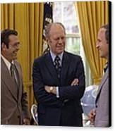 President Ford With Perennial Canvas Print by Everett