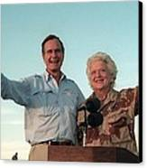 President George Bush And Barbara Bush Canvas Print