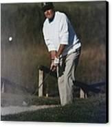 President George Bush Plays Golf Canvas Print by Everett