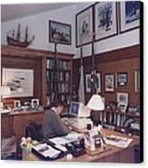 President George Bush Works Canvas Print