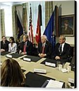 President George W. Bush And Members Canvas Print