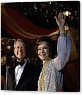 President Jimmy Carter And First Lady Canvas Print