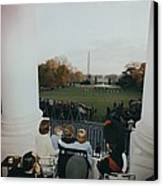 President Kennedy And His Family Watch Canvas Print