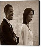 President Obama And First Lady S Canvas Print by David Dehner