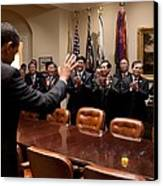 President Obama Bids Farewell Canvas Print
