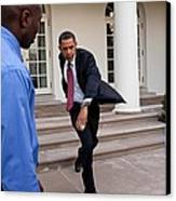 President Obama Practices Canvas Print by Everett