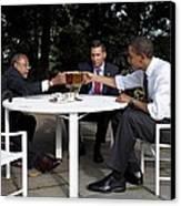 President Obama Professor Henry Louis Canvas Print by Everett