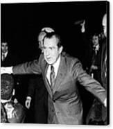 President Richard Nixon Extends Himself Canvas Print